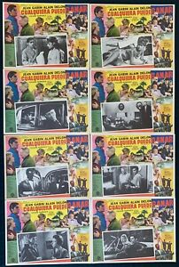 JEAN GABIN ALAIN DELON Any Number Can Win MEXICAN LOBBY CARD SET NEVER USED