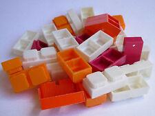 MATTONCINI PER COSTRUZIONI IN PLASTICA ANNI '70 NO LEGO