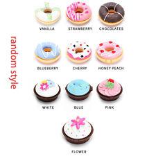 Cute Creative Colorful Donut Shape Lip Balm Sweet Girls Doughnut Moisturizing