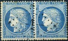 FRANCE CERES PAIRE N° 60 OBLITÉRATION GC 1 ABBEVILLE SOMME A VOIR