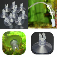10Pcs Clear Aquarium Fish Tank Suction Cup Sucker Holders For Air Line Tube New