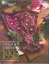 1995 Crochet Afghan Calendar Needlecraft Shop Popcorn Granny Square Patriotic