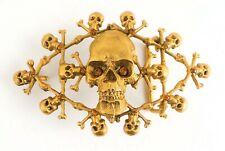 Virgins Saints & Angels | Gold Matted Skull Belt Buckle