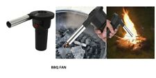 Electric BBQ Fan Air Blower For Outdoor Camping Picnic Grill Barbecue 14cm UK