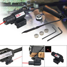 Tactical 1mW Red Dot Laser Sight Scope Rail 11/20mm Rifle Pistol Hunting 100m