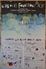 Affiche Saul Steinberg - Nuits de la fondation Maeght - 1970 - Tampon à sec