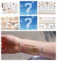 """100 Blätter GOLD Flash Tattoo sortiert Temporary Tattoos """"Räumungsverkauf"""""""
