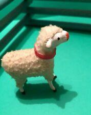 New ListingAdorable Vintage Christmas Lamb Woolly Sheep Nativity Putz Germany Wooden Legs