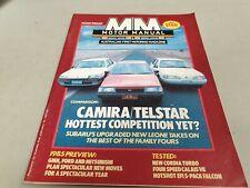 Mar 1985 MOTOR MANUAL Mag CAMIRA Telstar Subaru CORDIA XF Falcon Calais