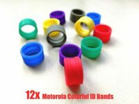 12pack Color ID Bands for Motorola antenna XPR3300 XPR3500 XPR7550 XPR7580 radio