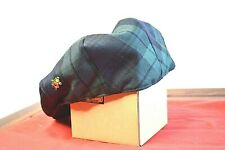 Glen Appin Mens Xl Green Plaid Flat Cap Hat Golf Hat Worsted Wool Gh330 Golf Pin