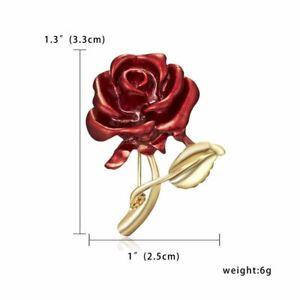 Fashion Flower Floral Rhinestone Lapel Brooch Pin Jewelry Women Men Jewelry Gift