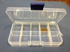 1x Clear Plastic Case Wholesale Container Nail Art Box tips Storage Compartment