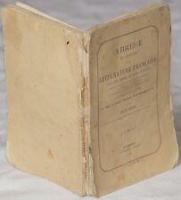 FELIX SODINI ABREGE DE L'HISTOIRE LITTERATURE FRANCAISE LETTURE THIERS PASCAL