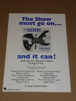 Shadows 1979 UK EMI Records Shop Display Flyer