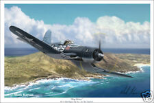"Ike Kepford  VF-17 Jolly Rogers  Aviation Art Print - 16"" x 24"""