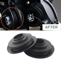 2PCS Headlight Seal Dust Cover With Hole For HID and LED headlight Kit Universal