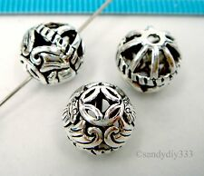 1x STERLING SILVER ROUND FOCAL CHINESE STYLE BAT SPACER BEAD 10mm #2340