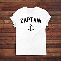 Captain T-Shirt,Sailor Tee,First Mate T-shirt,Sailing Boating Gift,Gift For Him,