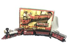 Vintage '90s New Bright Toys SANTA FE Express TRAIN SET G-scale #186 EUC