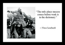 Vince Lombardi Green Bay Packers Quote 4x6 Photo Print Motivational Football