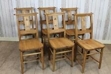 SOLID OAK CHAPEL CHAIRS CHURCH CHAIRS WITH CLOVERLEAF DESIGN ANTIQUE STYLE