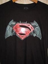 Batman V Superman Logo T Shirt Graphic Tee Size Large XL Black Dawn of Justice