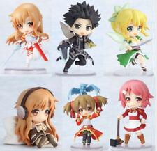 New Anime 6pcs Sword Art Online Painted PVC Action Figure