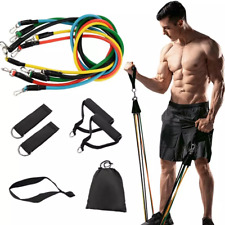 High Quality 11pcs Fitness Pull Rope Resistance Bands Fitness Strength Gym