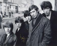 The Rolling Stones Signed 8x10 Charlie Watts + Bill Wyman (c) Acoa