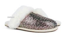 UGG Scuffette II Frill Bronze Fur Slippers Womens Size 8 *NIB*