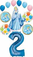 Cinderella Party Supplies Princess 2nd Birthday Balloon Bouquet Decorations
