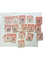 United States Postage Due Stamp Lot Unused No Reserve