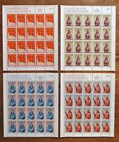 Briefmarken Liechtenstein Bogen Satz 470 - 473 sauber postfrisch MNH Pfarrkirche