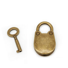Old Vintage Antique Style Mini Small Archaize Padlocks Key Lock With key S