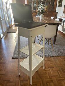 Ikea Industrial Style Laptop standing Desk Shelves Storage