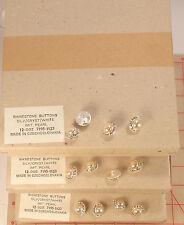 "1440 vintage Czech rhinestone buttons silver metal pearl 5/8"" 16mm 138 wholesale"