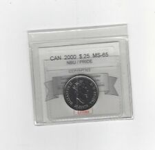**2000 Pride**Coin Mart Graded Canadian, 25 Cent, **MS-65 NBU**