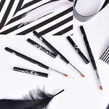 1pc Nail Art UV Gel Brush Oval Nylon Hair Design Wooden Handle Metal Cap KW