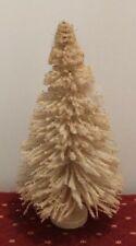 "Vintage St Nick Flocked Snow Bottle Brush 13"" Christmas Money Tree"