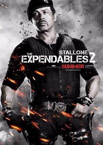 The Expendables 2 Film Poster - Sylvester Stallone - Option 5 - A4 & A3