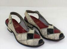 Vintage 1940's Heydays Leather Peep Toe Sling Back Shoes Womens 7M