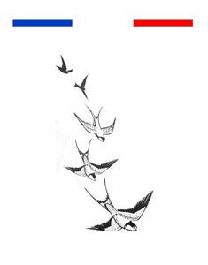 Tatuaje Temporal Efímero Fly Away Casa Golondrina