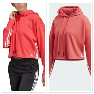 Woman's Adidas Clothing Pullover Cropped Hoodie Size Medium