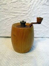 Moulin à poivre cylindrique ancien en bois Marlux (vintage)