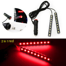 2x 9 LED Car Interior Atmosphere Red Light Charge Floor Decor Lamp Accessories
