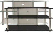 VCM TV-Rack Möbel Board LCD LED Medienboard Lowboard Tisch Alu Glas