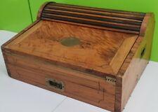 Vintage Writing Slope - Roll Top Slope Desk - Antique Original Cabinet