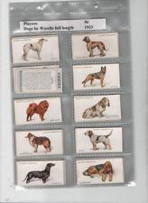 cigarette cards dogs full length 1931 full set