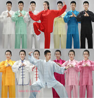 Unisex Silk Martial Arts Wushu Tai Chi Yoga Sets Kung Fu Suit Uniform Costume